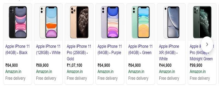 Rich snippets of apple iphone