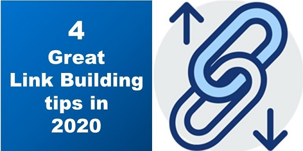 image showing title 4 great link building tips in 2020