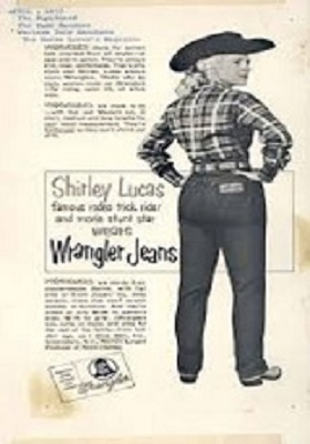 Image of Shirley Lucas wearing a wrangler jeans.