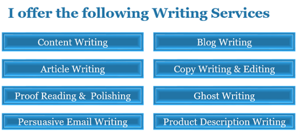 writing services offered by content sculptor.